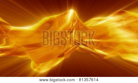 Plasm Or Liquid With Fiery Shine