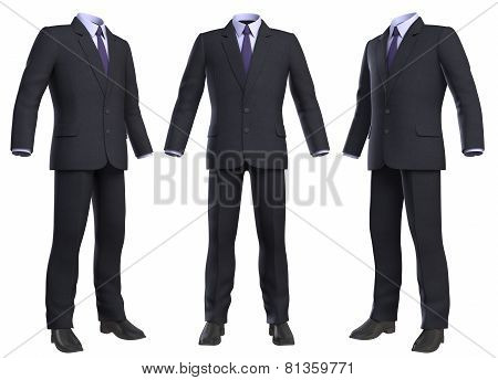 Suit Isolated On White Background