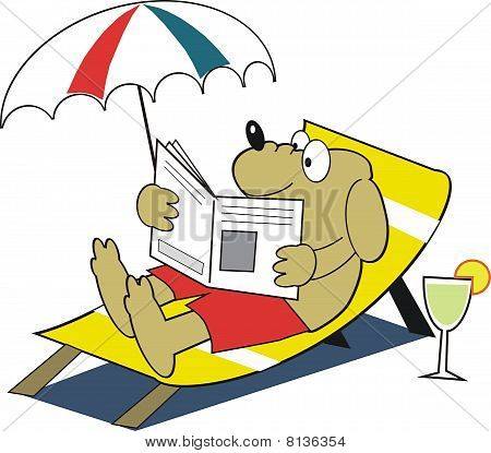 Relaxing dog cartoon