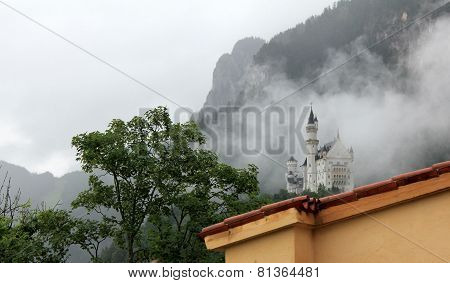 Neuschwanstein Castle in the fog