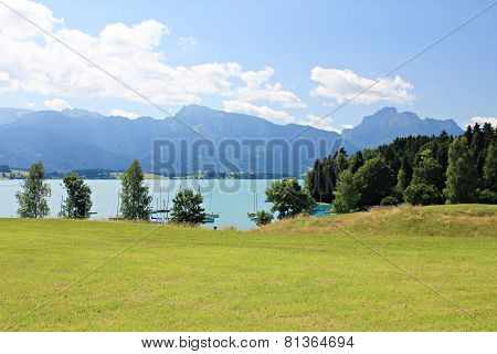 View over the Forggensee lake