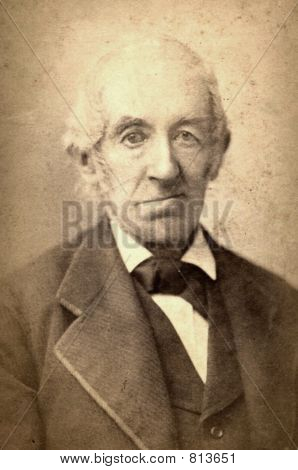 1888 Photo of an Elderly Man
