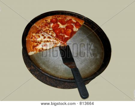 Pizza on the pan
