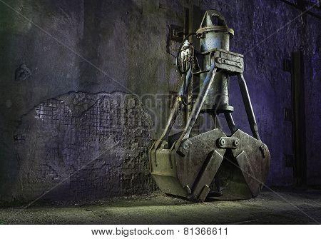digging crane