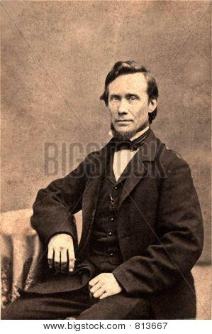 Vintage Foto 1879 von ein Präsident Lincoln look alike Mann