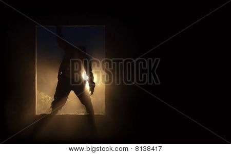 The Silhouette Of The Zombie