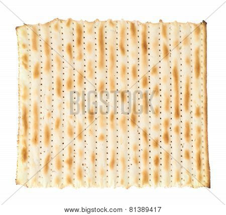 Single machine made matza flatbread