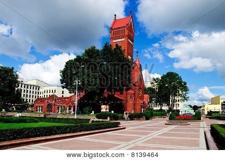 Summer Day Belorussian Landscape Minsk