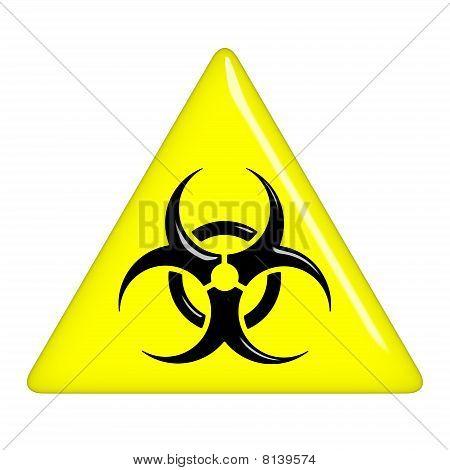 3D Biohazard Sign