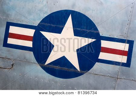 Vintage United Stated Air Force Sign On Military Airplane