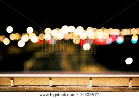 city lights background