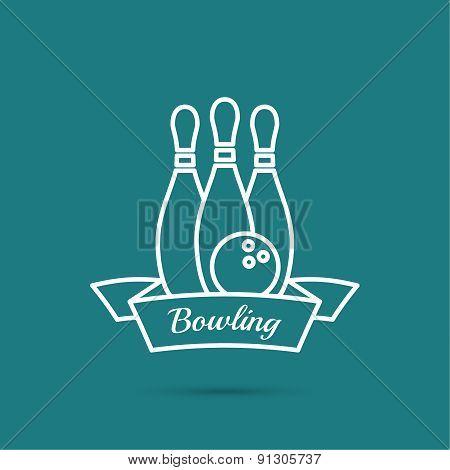 Bowling. Pin and ball.