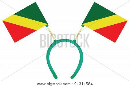 Witty Headdress Flags Congo Republic