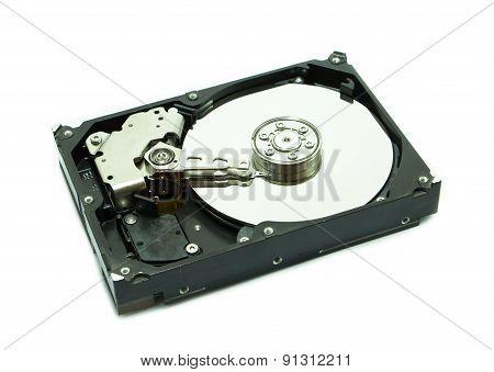 Old Hard Disk On White Background