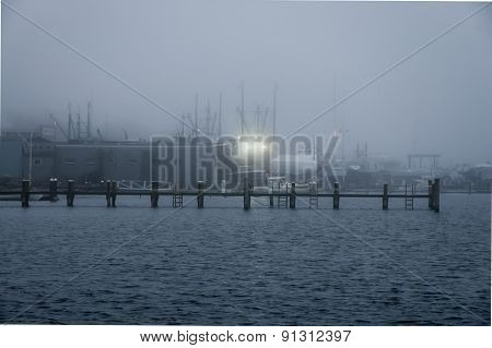 Boatyard In Fog