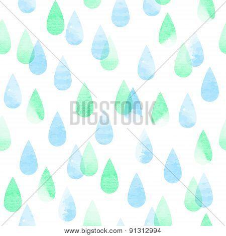 Rainy Seamless Pattern