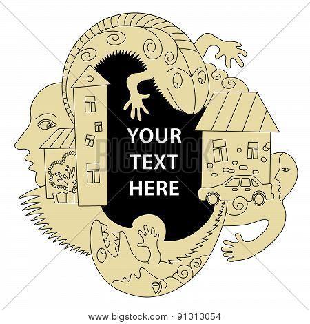Horribly Text Frame