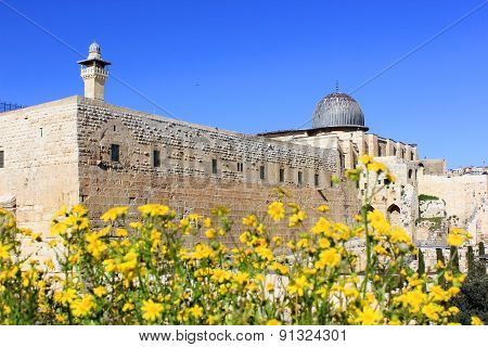 Ancient Walls Of The Great Jerusalem, Israel