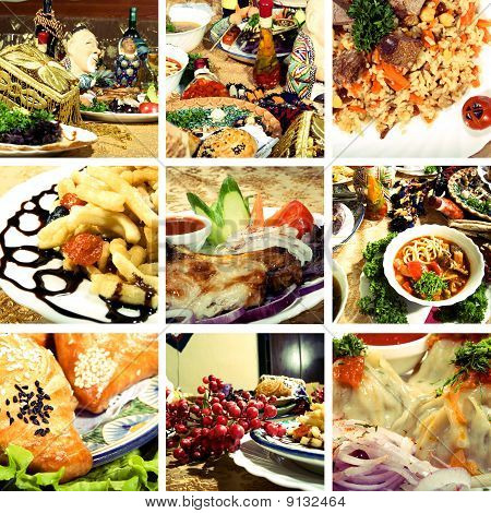 Collection of Asian dishes