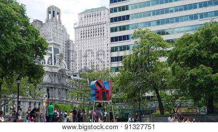The Love Park in Philadelphia