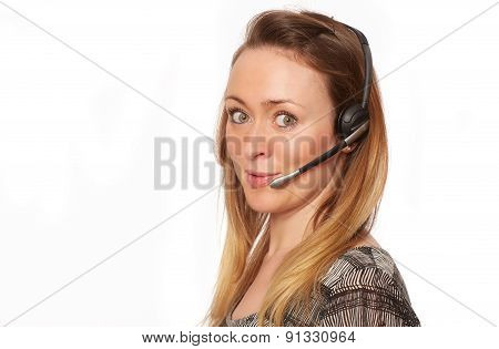 Young Woman With Headphone