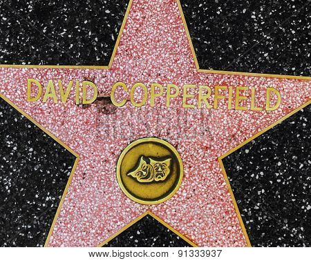 David Copperfields Star On Hollywood Walk Of Fame