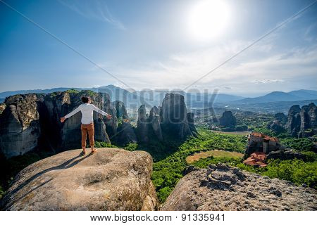 Man on the mountains