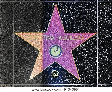 Christina Aguileras Star On Hollywood Walk Of Fame