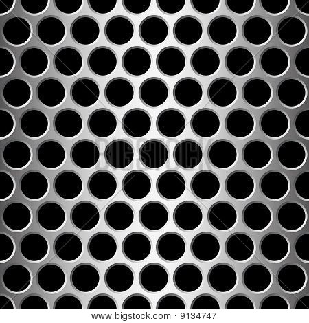 Aluminium nahtlose Muster Wit runde Befestigunglöcher.