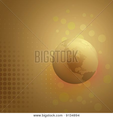 Abstract Earth Globe Bacground,north America