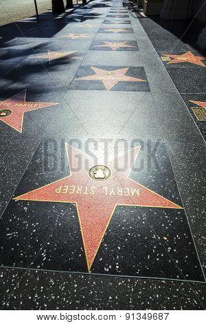 Meryl Streeps Star On Hollywood Walk Of Fame