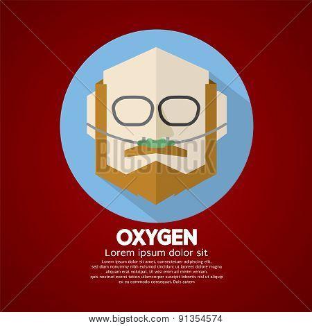 Elderly Patient With Respiratory Oxygen Nasal Catheter.