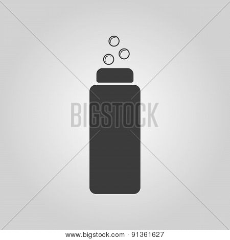 The Liquid Soap Lotion Cream Shampoo icon. Shower Gel symbol. Flat Vector illustration poster