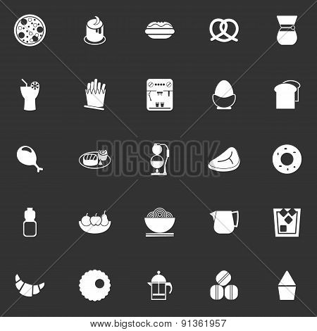 Easy Meal Icons On Gray Background
