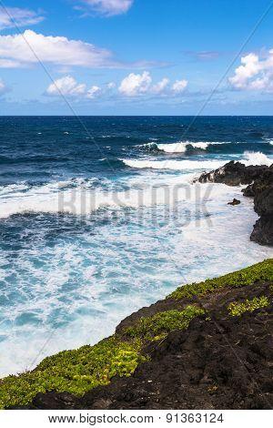 The coast of Haleakala in Maui, Hawaii