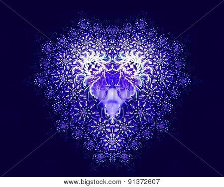 Symbolic Diamond Heart-shaped Blue Heart That Symbolizes Love
