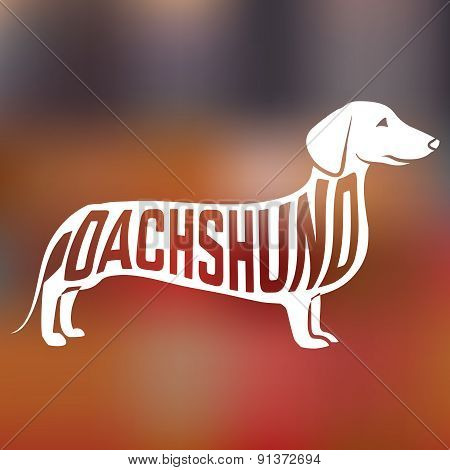 Creative Dachshund dog silhouette