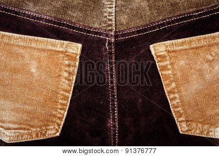 Corduroy Fabric Texture Background