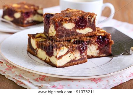 Cherry Cheesecake Marbled Brownies