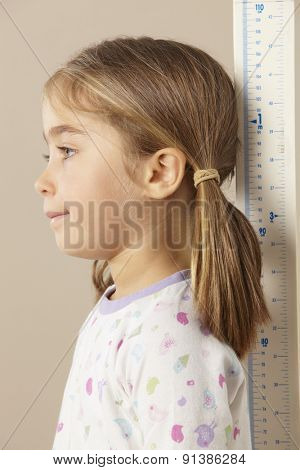 5 year old girl measuring height