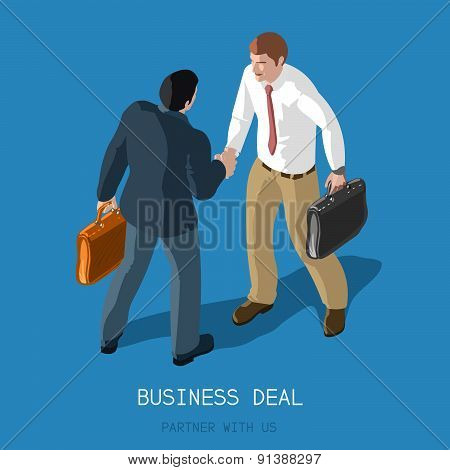 Business Deal People Isometric