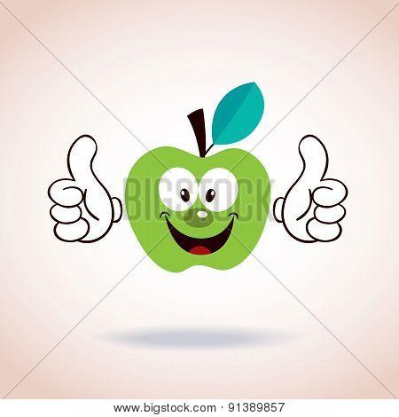 apple mascot cartoon character