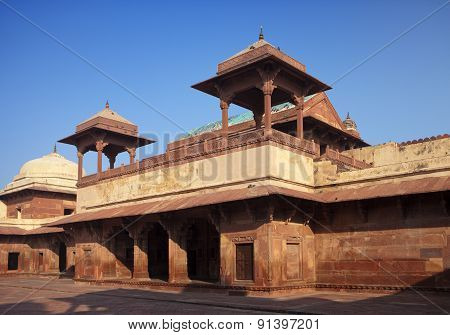 India. The thrown city of Fatehpur Sikri. poster