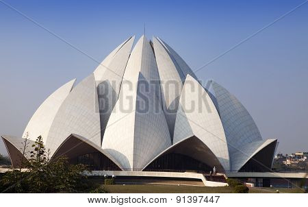 India. New Delhi Lotus temple.
