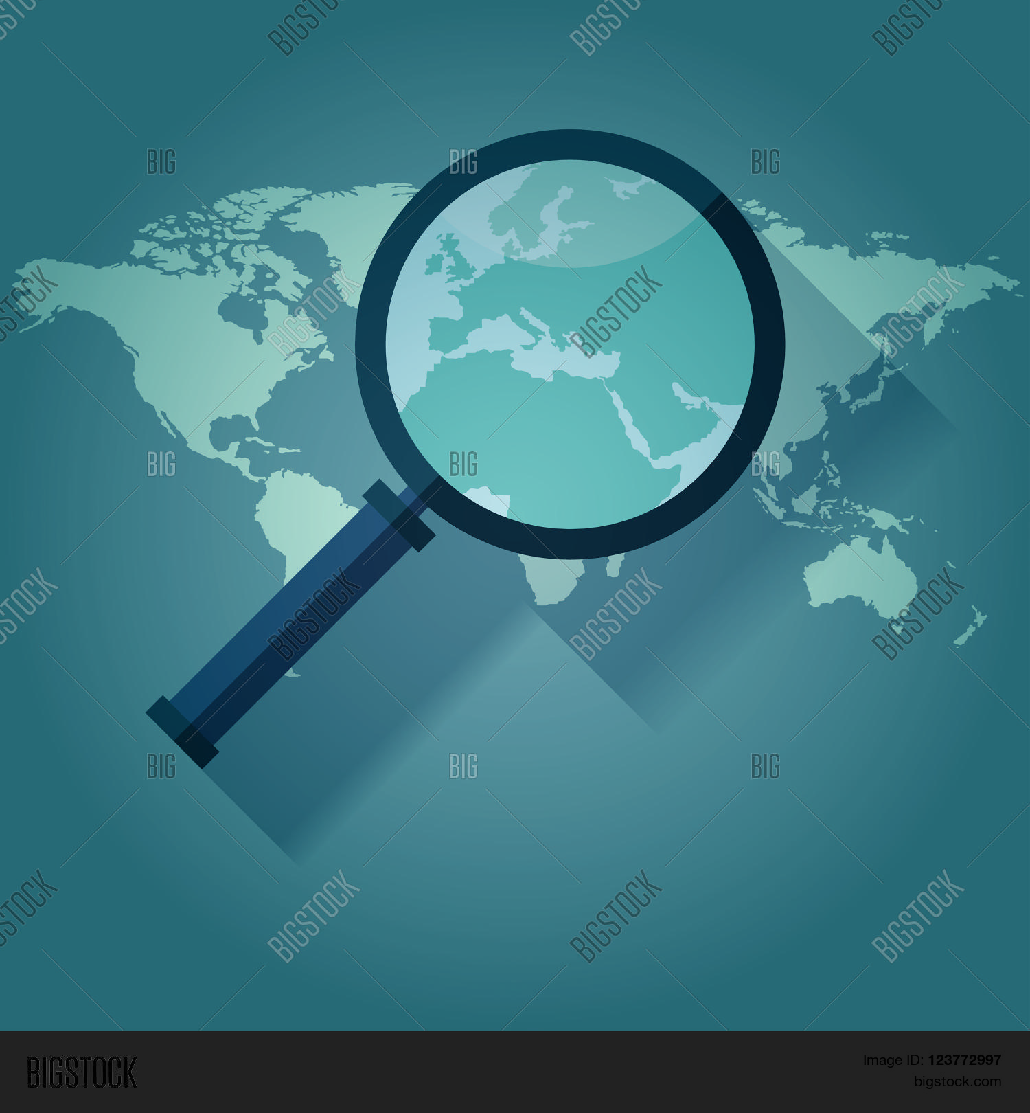 World map countries europe vector photo bigstock world map countries with europe magnifying glass gumiabroncs Gallery