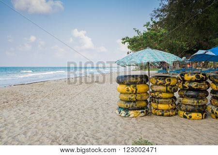 ubber ring on the beach for rent Rayong ,Thailand.