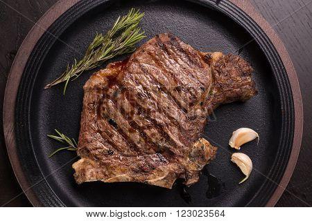 Grilled Rare Rib Steak