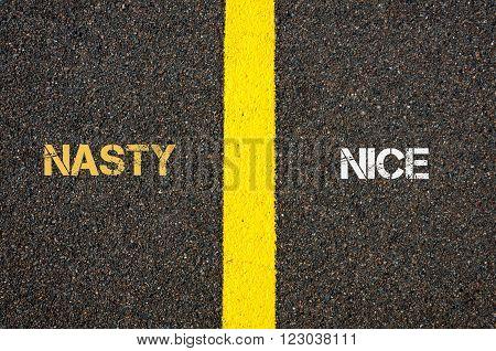 Antonym Concept Of Nasty Versus Nice
