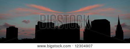 Salt Lake city at sunset with beautiful sky