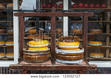 Traditional cheese factory in Volendam in Holland